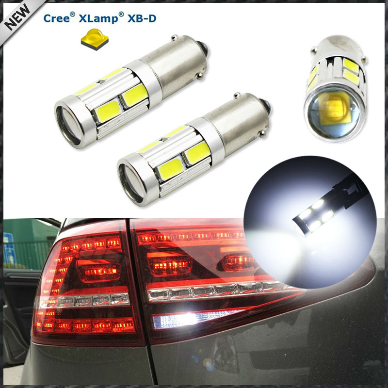 (2) 360 Degrees Xenon White 3W CRE E w/ 8-SMD BAX9S H6W 150 degress LED Replacement Bulbs For Backup or Parking Lights 2pcs brand new high quality superb error free 5050 smd 360 degrees led backup reverse light bulbs t15 for jeep grand cherokee