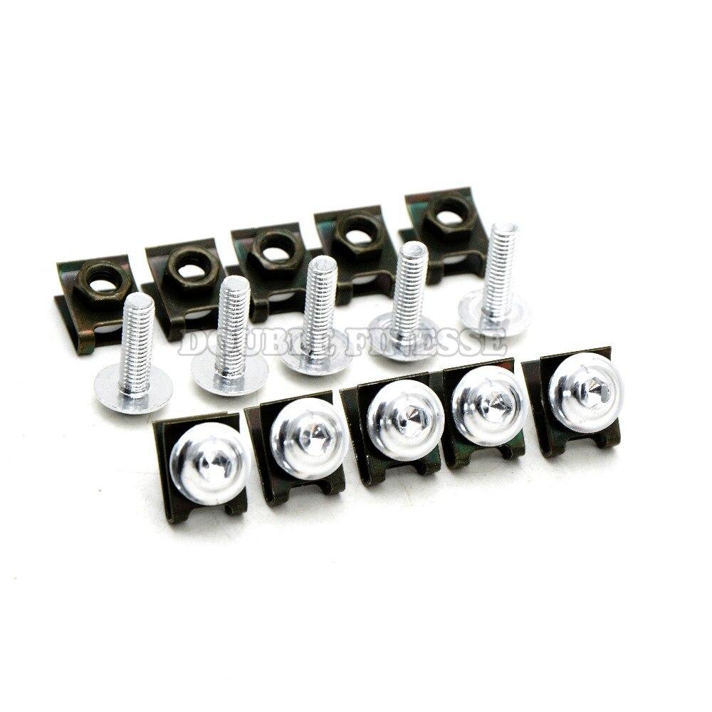 6mm  motorbike body work fairing bolts screwse  For  yamaha fz1 fazer Fz6  fz6r 09-15 fz8 xj6 diversion 06 07 08 09 10 11 12-16