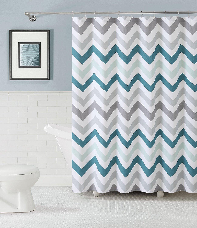 Mat Modern Aqua Gray White Wave Stripe
