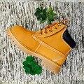 Tamanho 21-38 crianças shoes botas marin botas kids shoes botas de couro genuíno ao ar livre meninos meninas botas de couro liso shoes
