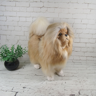 simulation cute big pekingese 34x16x30cm model polyethylene&furs dog model home decoration props ,model gift d709 simulation cute sleeping cat 25x21cm model polyethylene
