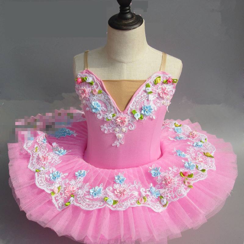 Children New style  Swan Lake Ballet Costume Ballerina Dress Kids Short Feminino Ballet Tutu Skirt Dance Dress For Girls