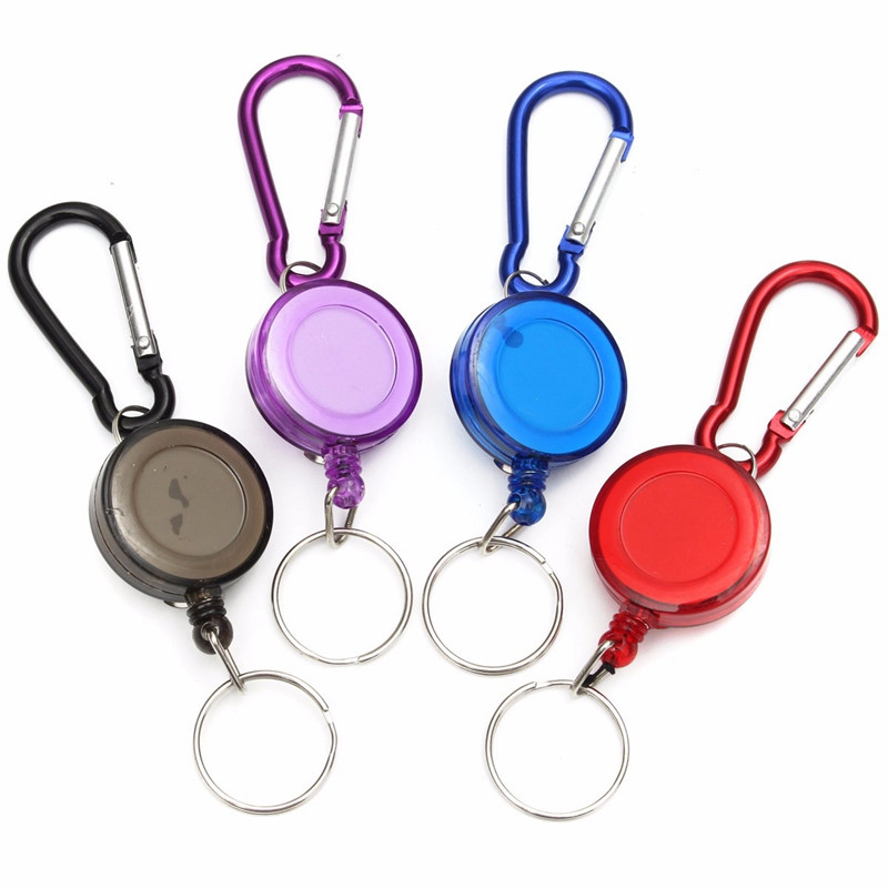 1 PC Colorful Retractable Pull Key Ring ID Badge Lanyard Name Tag Card Holder School Office Supplies