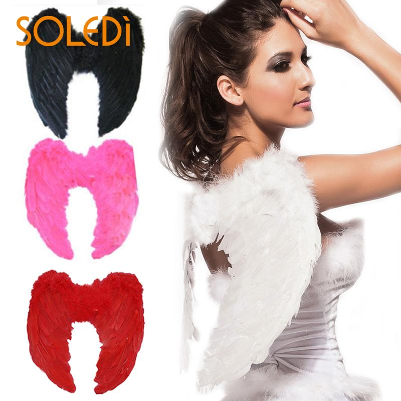 Adult 4 Color Outfit Wing Dress Up Fashion Girls Feather Fairy Pretty Christmas Halloween Angel Wings Costume