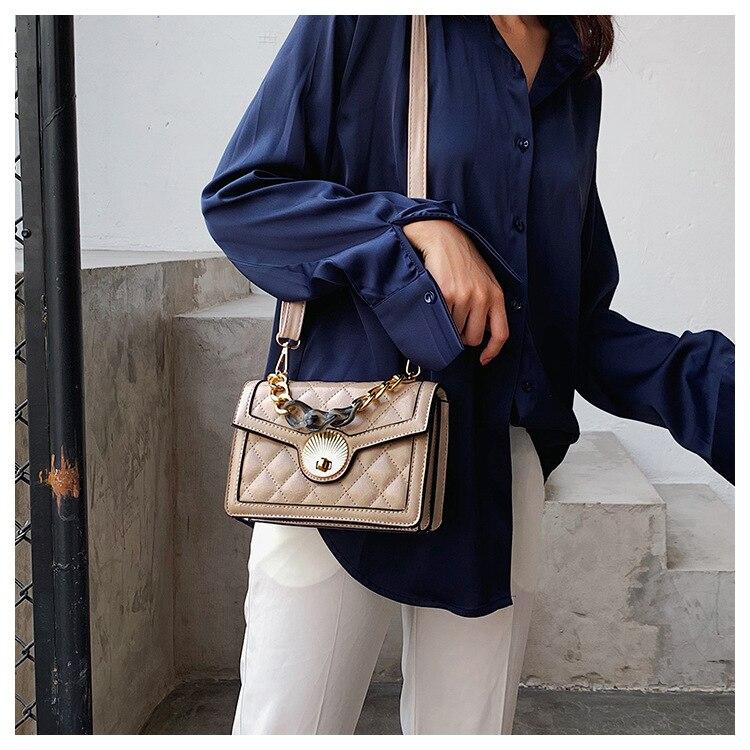 Women's Designer Luxury Channels Bags Shoulder Handbag for Women Quilted Leather Crossbody Flap Bag Fashion PU Lock Tote Handbag (15)