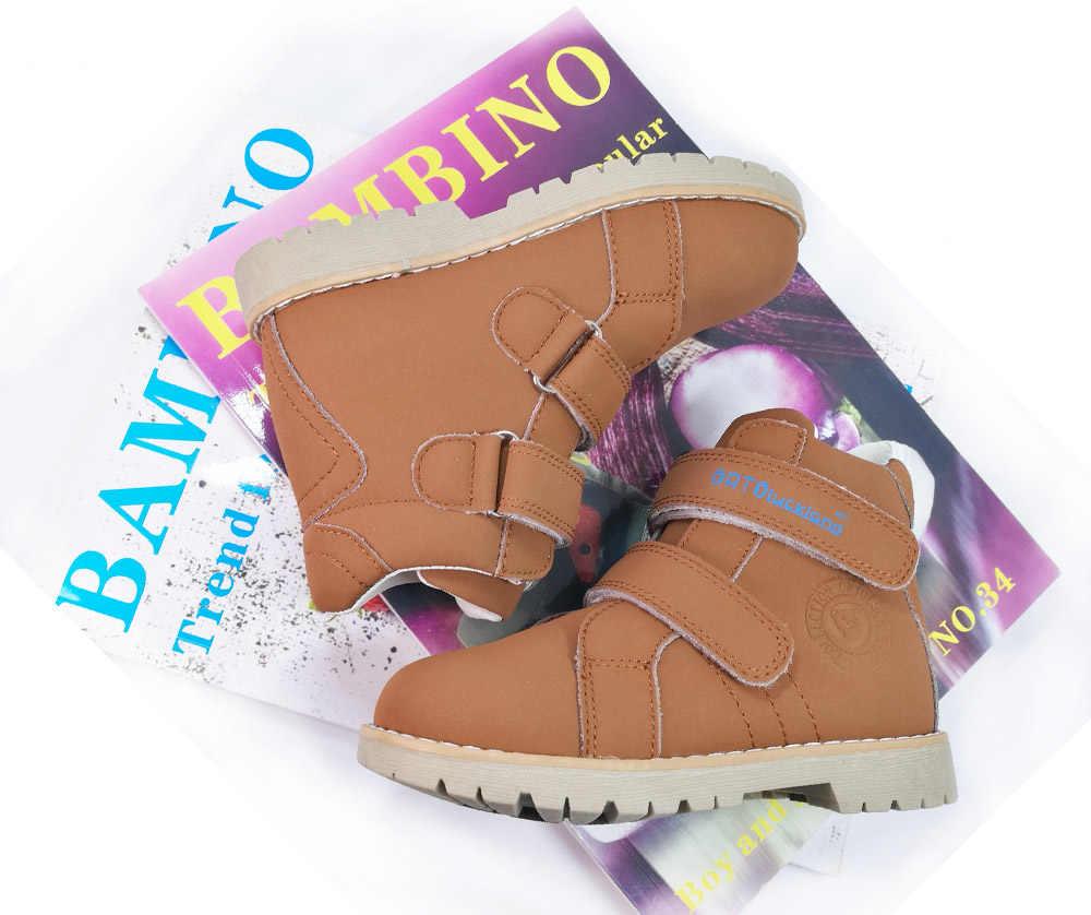 Serin kanca & döngü düzeltici ortopedik hakiki deri çizmeler karışık renk okul ayakkabıları spor ayakkabı yürümeye başlayan küçük erkek kız