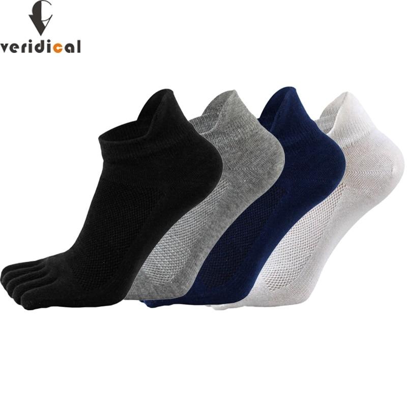 VERIDICAL 5 пар / лот однотонные носки с пальцами мужские дышащие защищающие носки до щиколотки летние носки с пятью пальцами Salcetines Sokken