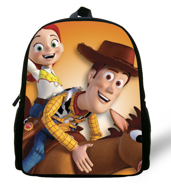 12-inch Mochila School Kids Backpack Toy Story School Bags For Boys Cartoon Woody Roundup Backpack Child Age 1-6 Kids & Baby's Bags