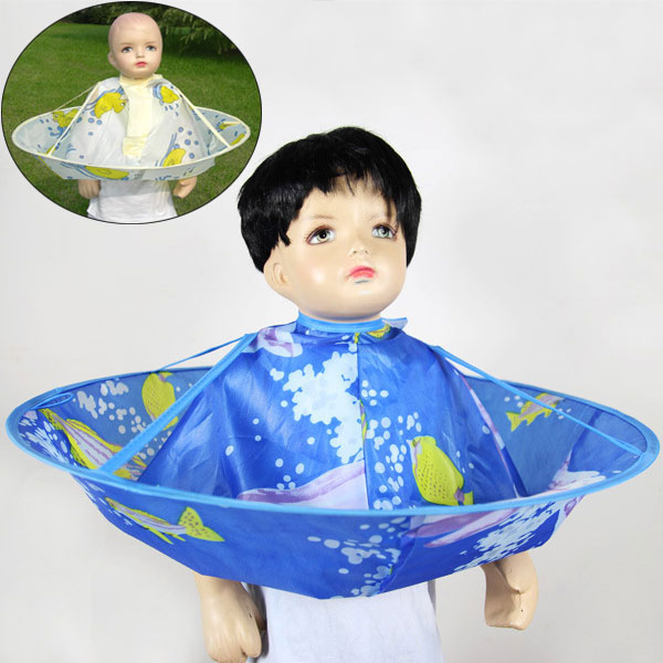 2017 Kids Children Hair Cutting Cape Haircut Gown Hairdresser Apron Cloak Clothes for Salon Hair Styling Accessory 88 S