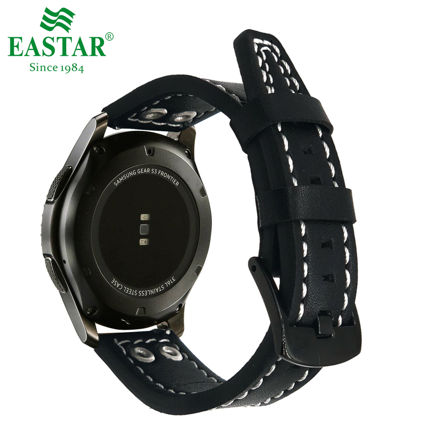Eastar Genuine Leather Strap For Samsung Gear S3 Band Frontier Strap For Gear S3 Classic Watchband 22mm Watch BraceletEastar Genuine Leather Strap For Samsung Gear S3 Band Frontier Strap For Gear S3 Classic Watchband 22mm Watch Bracelet