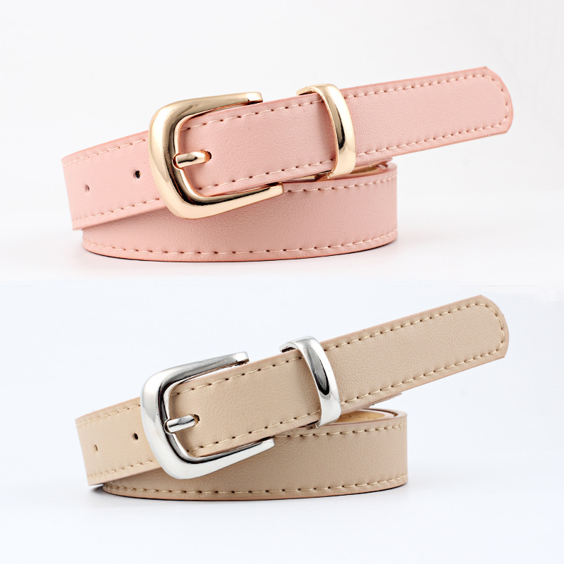 2020 New Cute Adjustable Pink Red Black Wide Waist Belt Laides Waistband Gold Silver Pink Buckle Belts For Women Pants Jeans