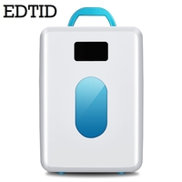 EDTID MINI Car Fridge Portable Auto Household Refrigerator Travel Cooler IceBox Electric Food Freezer Warmer Office