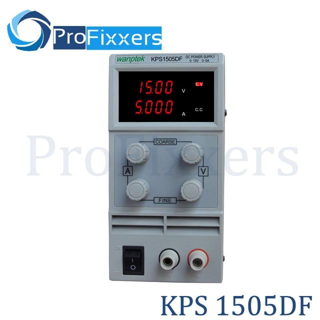 High quality KPS1505DF 15V5A 110V-230V 0.1V/0.001A EU LED Digital Adjustable Switch DC Power Supply mA display