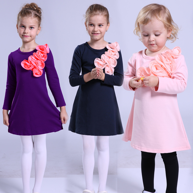 Baby Girls Dresses 2 3 4 5 6 7 8 9 10 11 12 Years Autumn Long Sleeve Cotton Princess Dress Girl Clothes Party Dresses For Girls baby girls party dress 2017 wedding sleeveless teens girl dresses kids clothes children dress for 5 6 7 8 9 10 11 12 13 14 years