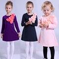 Bebé Vestidos de Las Muchachas 2 3 4 5 6 7 8 9 10 11 12 Años Otoño Princesa Vestido de la Muchacha Ropa de Algodón de Manga Larga Vestidos de Fiesta Para niñas