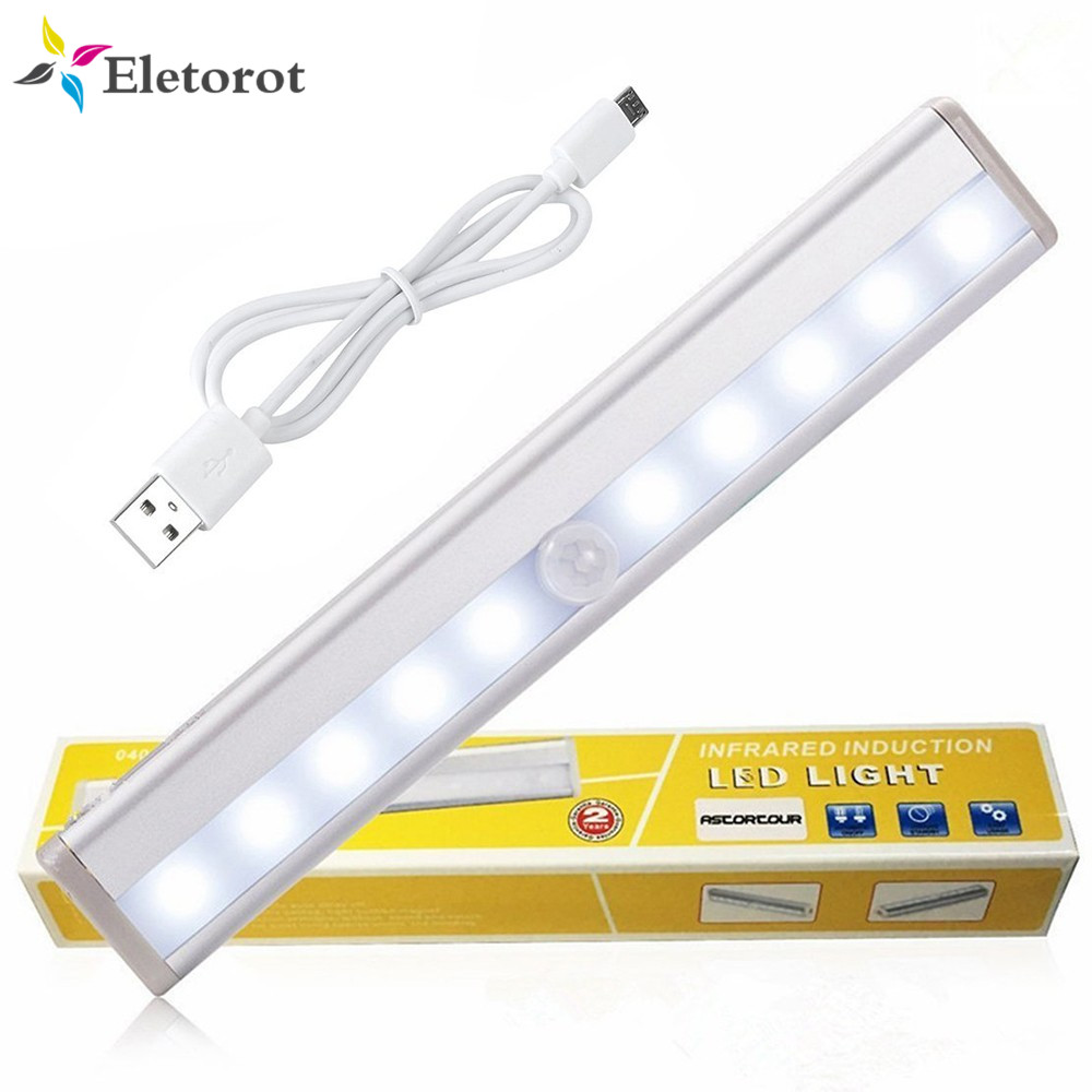 3 Modes Closet Light 88 Led Pir Motion Sensor Under Cabinet Light Usb Rechargeable 6500k Indoor Wardrobe Night Lights Lights & Lighting