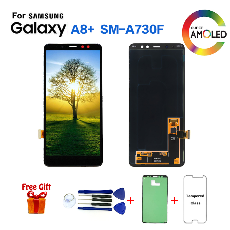 Original For Samsung Galaxy <font><b>A8</b></font>+ A730 SM-A730F <font><b>Display</b></font> LCD Screen replacement for Samsung <font><b>A8</b></font>+ SM-A730X LCD <font><b>display</b></font> screen module image