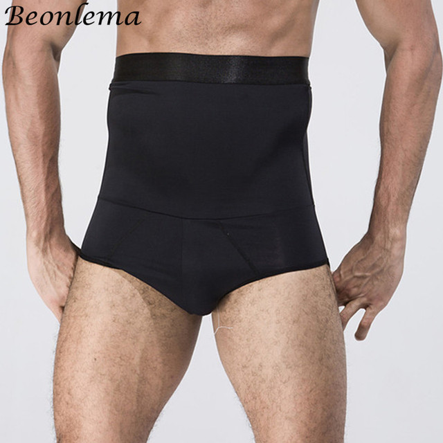 Beonlema Tummy Shaping Briefs Men Fitting Body Trimmer High Waist Slimming Bodyshaper Homme Double Layer Modeling Shaperwear