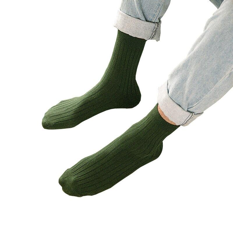 La tendencia del estilo japonés hombres tejido de textura tobillo ...