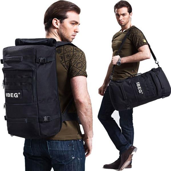 2016 New Men Nylon Multifunctional Mountaineering High Capacity Backpacks 45L 60L