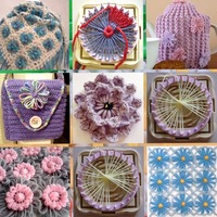 DIY Weaving Tools Creator Yarn Needle Hobby Loom 9 Unids Knitting Machine Color Stitching Tools Flower Loom Knitting Woolen New