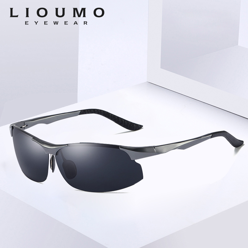 New Polarized Men Sunglasses Aluminum Frame Rimless Sun Glasses Women Anti Glare Outdoor Driving Fishing Eyewear Oculos De Sol in Men 39 s Sunglasses from Apparel Accessories