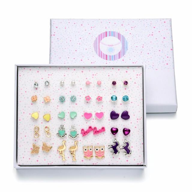 Enamel Stud Earrings – 20 Pairs