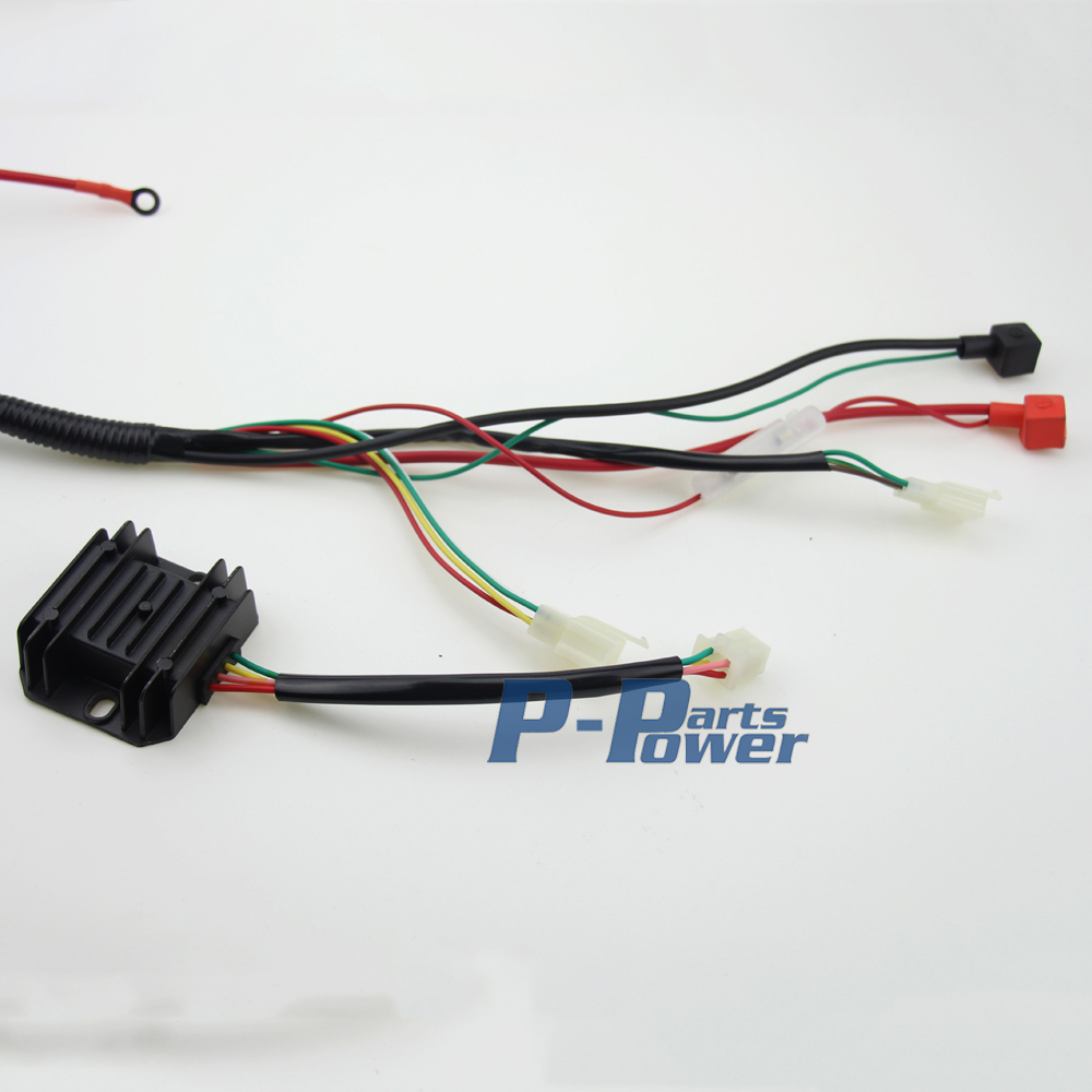 COMPLETE ELECTRICS CDI WIRE HARNESS For ATV QUAD 300CC 250CC 200CC 150CC ZONGSHEN LIFAN lifan 200cc atv wiring on lifan images free download wiring  at creativeand.co