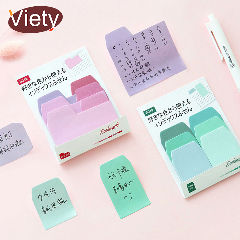 Gradient Colors Index Paste Memo Pad Planner Sticky Note Paper Sticker Kawaii Stationery Pepalaria Office 60 Pages