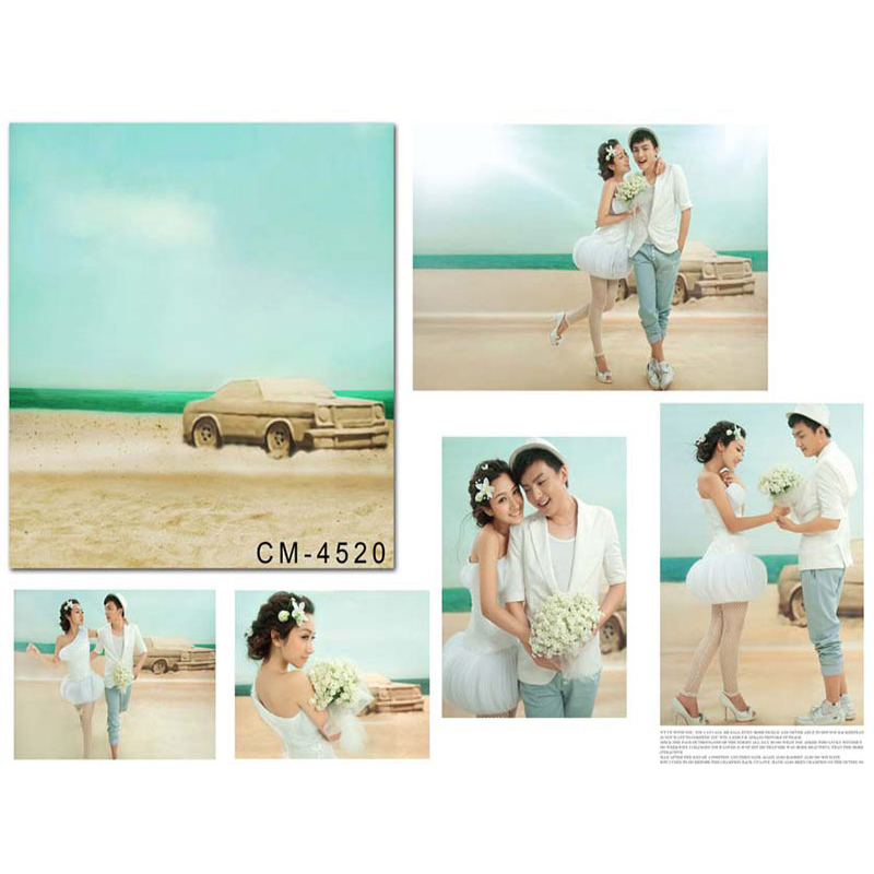 Wedding Photography Background Blue Ocean Beach Birthday Photo Backdrops Car White Clouds Background for Photographic Studio kate backdrop for photography beach ocean wedding series background photo studio seaside scenic backdrops