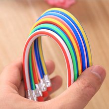 Hot Sale Arbitrarily curved stripe soft pencil off constantly with a rubber funny toy