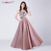 dd1ae926983 Ever Pretty V Neck Sequined Bodice Backless A Line Long Evening Dresses  Elegant Vestido De Festa