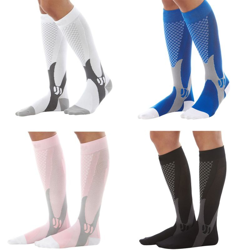 HTB1kZnTXUWF3KVjSZPhq6xclXXaG - Men Women Leg Support Stretch Compression Socks Below Knee Socks