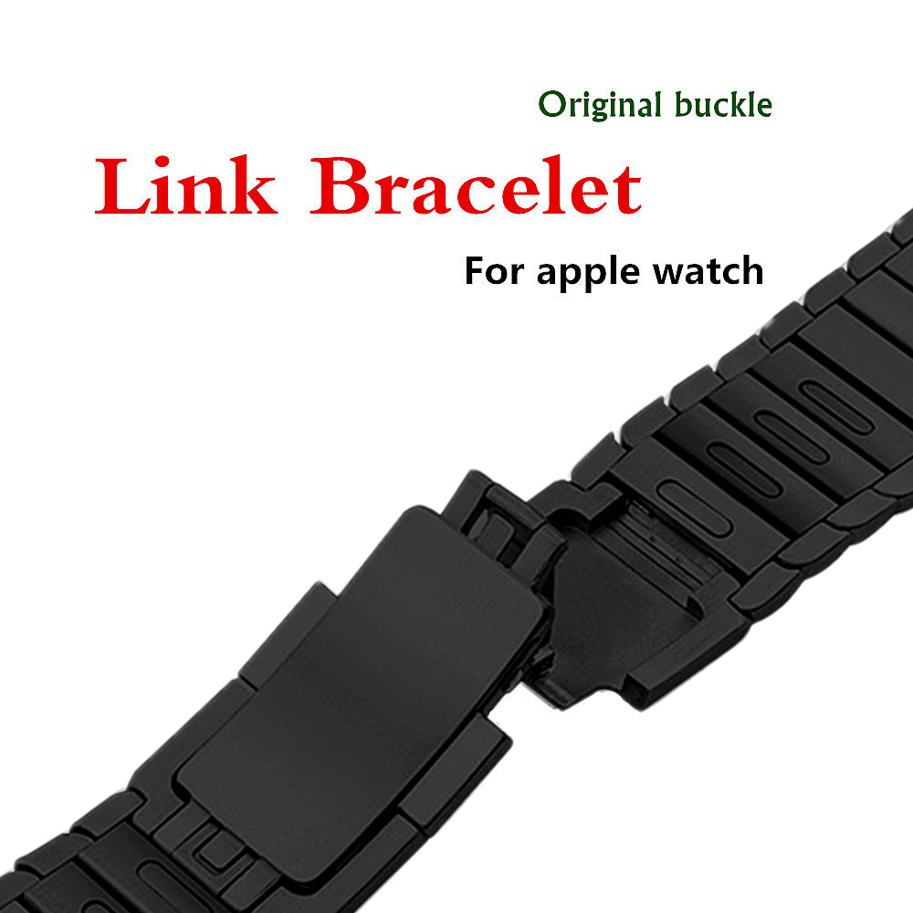 316L stainless steel watchband for apple watch 3/2/1 Link bracelet band strap 38/42 mm removeable belt metal buckle for iwatch все цены