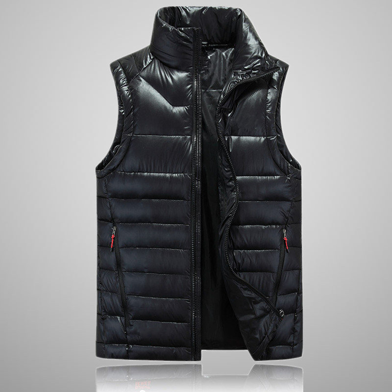 2018 New Arrival Brand Men Sleeveless Jacket Winter Ultralight White Duck Down Vest Male Slim Vest 505 M-XXL