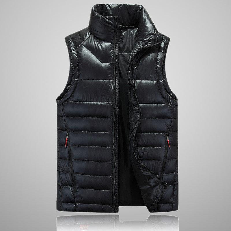2018 Neue Ankunft Marke Männer Sleeveless Jacke Winter Ultraleichte Weiße Ente Daunenweste Männer Dünne Weste 505 M-xxl Dauerhafte Modellierung