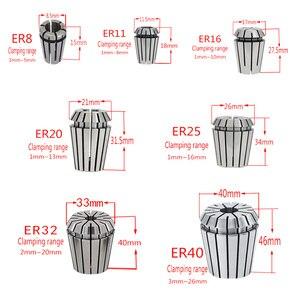 Image 5 - ER25 1/2/3/4/5/6/7/8/9/10/11/12/13/14/15/16mm machine tool accessories for 1pcs elastic high precision ER25 chuck CNC engraving