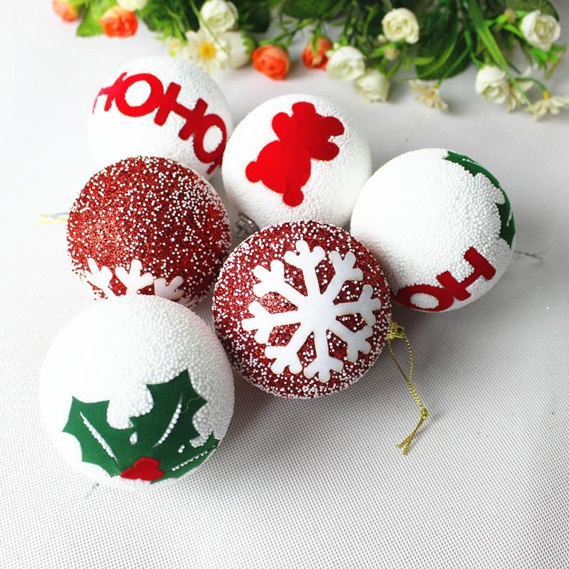 Boule Decoration.Us 6 16 20 Off New 8cm Christmas Foam Ball Christmas Tree Ornaments Christmas Ornaments Boule De Noel Sapin Piepschuim Ballen Styrofoam Ball In Ball