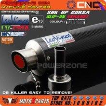 LEOVINCE -SBK GP CORSA SLIP-ON Motorcycle Exhaust Carbon Fiber Pipe Muffler CB400 CB600 CBR600 1000 CBR250 ER6N ER6R YZF600 Z750