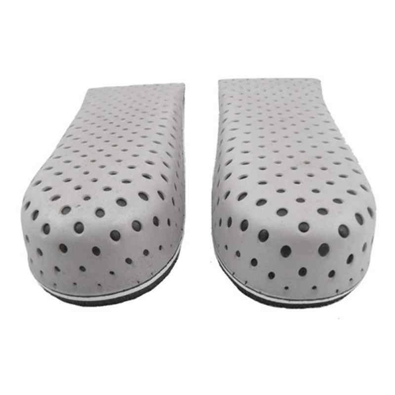 1 par mais novo unissex aumento ortopédico palmilha elevador inserção almofada altura mais alto calçados masculinos sapatos femininos alta palmilhas