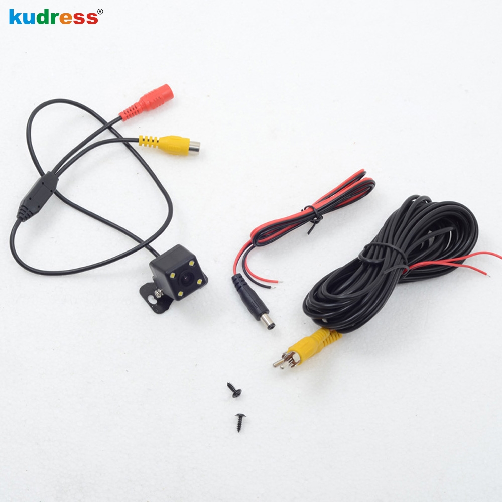 Rear View Cameras Parking Assistance Rear Cameras HD CCD 4 LED Night Vision Water resistance Materials Black Reversing cameras