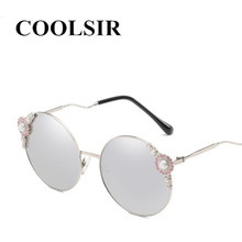 COOLSIR Luxury Pearl Round Sunglasses Women Brand Designer Decoration Rhinestone Sun Glasses for Female UV400 Oculos
