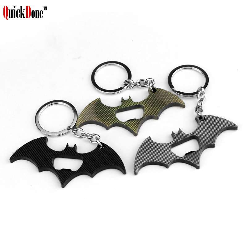 QuickDone Batman Key Chain Beer Bottle Opener Multifunction Portable Marvel movies Avengers Super Heros Pendant Keychain AKC5303