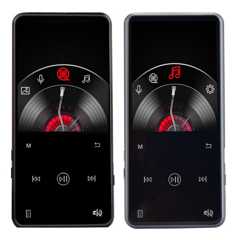 ALLOYSEED Portable Bluetooth V4.1 2.4 pouces TFT écran 8 GB MP3 MP4 lecteur métal tactile FM Radio Mini vidéo stéréo lecteur de musique