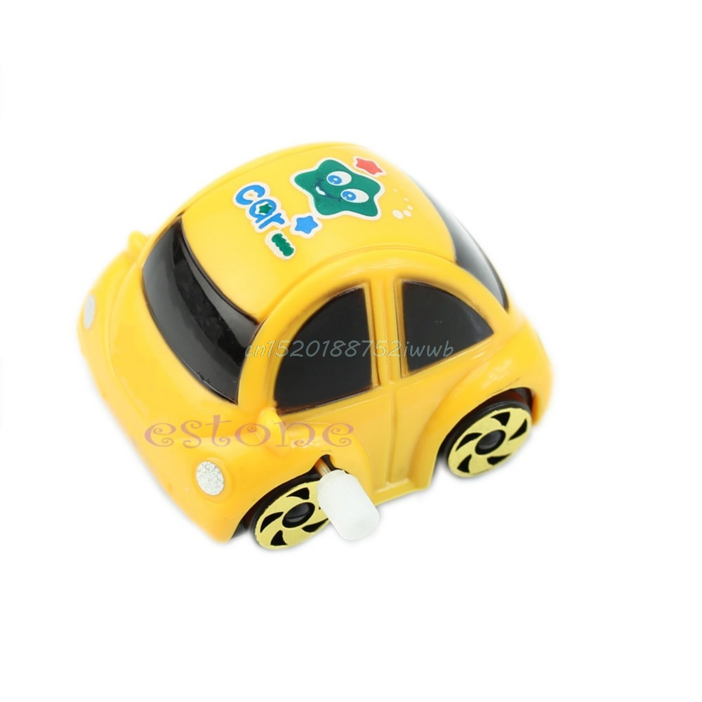 Plastic Wind-up Clockwork Design Racing Car Toy For Kids Children #T026#