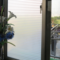 90*200 cm Opaque Blinds patterned Frosted 3D Window Films pvc Static Cling Self adhesive Privacy Glass Stickers