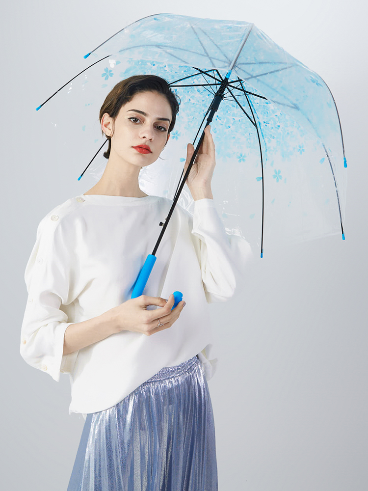 Stay-Here Transparent Umbrella Clear Cute Rain Fashion Sweet Jelly Colorful Woman Wedding Decoration,Dark Pink
