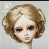 1 STÜCKE Heißer Verkauf SD BJD Puppe Perücken Blond Lockige Perücke Für BJD Puppe 1/4 1/3 1/6 1/8