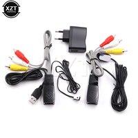 Najnowszy USB power adapter AV video audio przedłużacz ponad cat5e/6 kabel sieciowy z IR Podczerwieni Repeater
