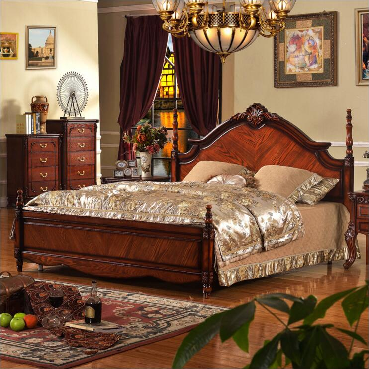 solid wood bed Fashion European French Carved bedside 1.8 m bed o1236solid wood bed Fashion European French Carved bedside 1.8 m bed o1236